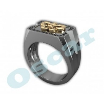Мужские кольца на заказ. Модель Os 3010