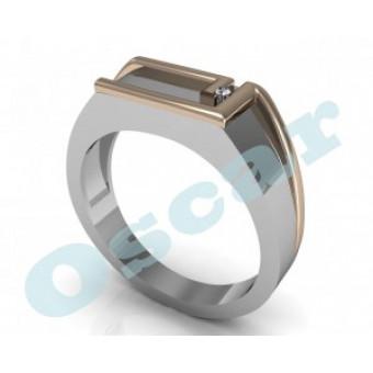 Мужские кольца на заказ. Модель Os 3014