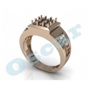 Мужские кольца на заказ. Модель Os 3018