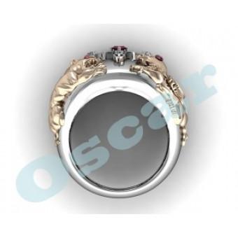 Мужские кольца на заказ. Модель Os 3026