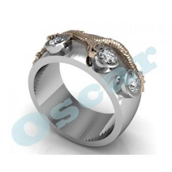 Мужские кольца на заказ. Модель Os 3029