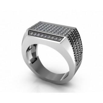Мужские кольца на заказ. Модель Os 3044