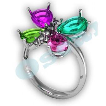 Дизайнерские кольца на заказ. Модель Os 7016