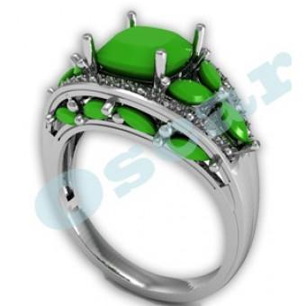 Дизайнерские кольца на заказ. Модель Os 7018