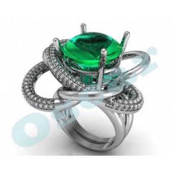 Дизайнерские кольца на заказ. Модель Os 7036