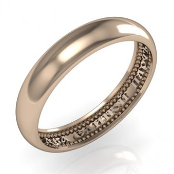 Обручальные кольца на заказ. Модель вк188_3,5мм