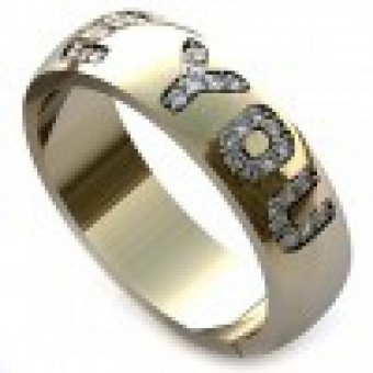 Обручальные кольца на заказ. Модель вк205