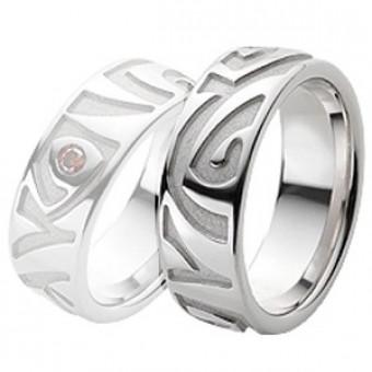 Обручальные кольца на заказ. Модель вк208_19,5