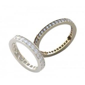 Обручальные кольца на заказ. Модель вк288
