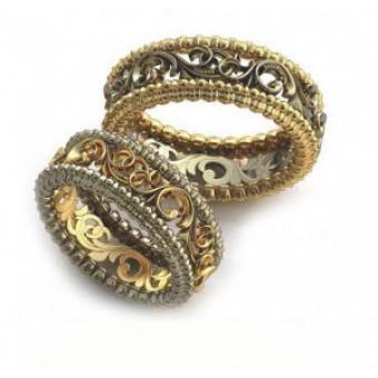 Обручальные кольца на заказ. Модель вк327_17,25
