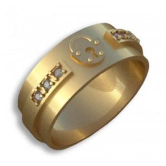 Обручальные кольца на заказ. Модель вк329_17