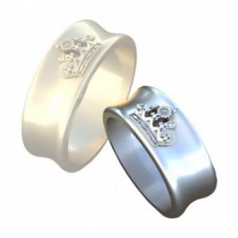 Обручальные кольца на заказ. Модель вк330_15,75