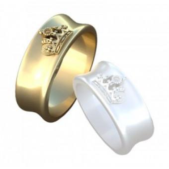 Обручальные кольца на заказ. Модель вк331_19,5