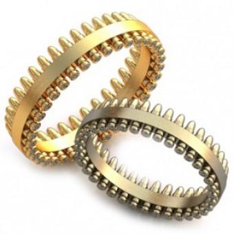 Обручальные кольца на заказ. Модель вк332_15,25