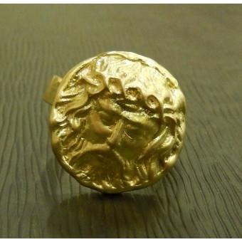 Кольцо-перстень с ликом бога - Зевса