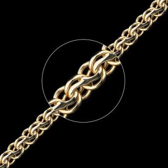 Цепь золотая плетение Ручеек