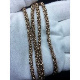 Золотая цепочка Лисий хвост на заказ