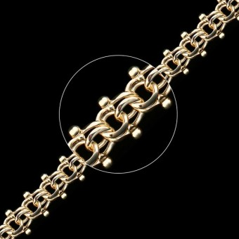 Цепь золотая плетение Гламурный Бисмарк