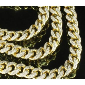 Золотая цепочка Панцирь с бриллиантами