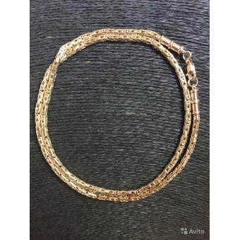 Цепь золотая Лисий хвост полукруг, овал на заказ