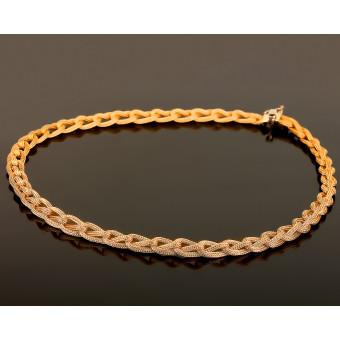 Золотое плетеное ожерелье. Roberto Bravo.