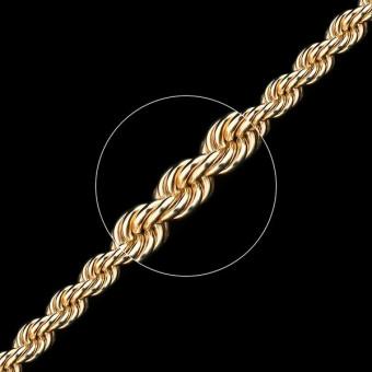 Цепь золотая плетение Веревка