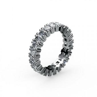 Кольцо с камнями круглой огранки закрепка корнерами Модель КЛ-1003
