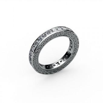 Кольцо с круглыми камнями канальная закрепка Модель КЛ-1058