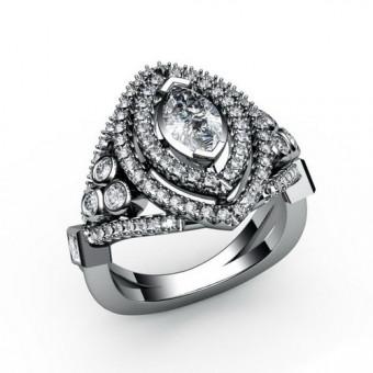 Женские кольца на заказ. Модель К-1059