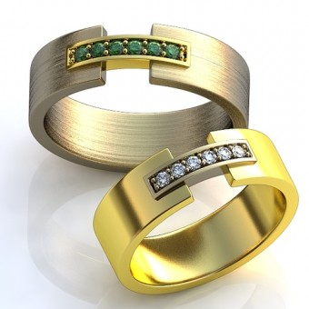 Обручальное кольцо на заказ. Модель obr-105
