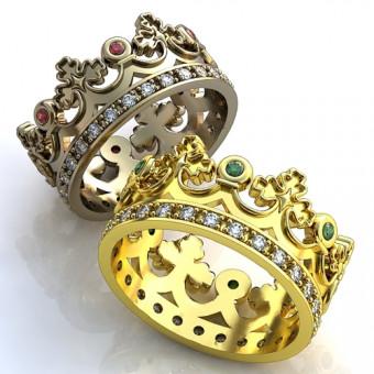Обручальное кольцо на заказ. Модель obr-115