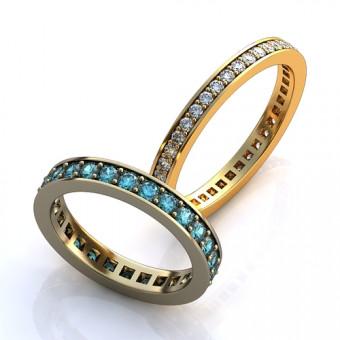 Обручальное кольцо на заказ. Модель obr-119