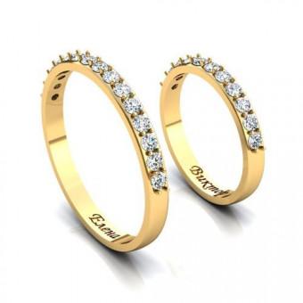 Обручальное кольцо на заказ. Модель 4K259
