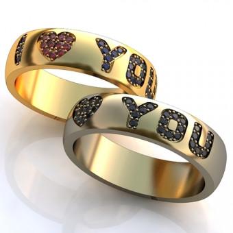 Обручальное кольцо на заказ. Модель obr-102