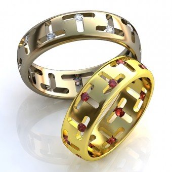 Обручальное кольцо на заказ. Модель obr-113