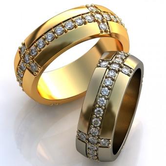 Обручальное кольцо на заказ. Модель obr-106