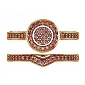 Помолвочные кольца на заказ. Модель Os 2524