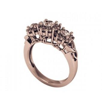 Помолвочные кольца на заказ. Модель Os 2540