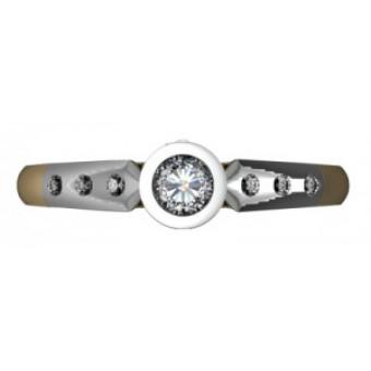 Помолвочные кольца на заказ. Модель Os 2544