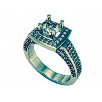 Помолвочные кольца на заказ. Модель Os 2547