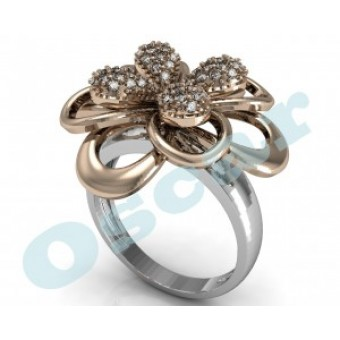 Дизайнерские кольца на заказ. Модель Os 7001