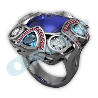 Дизайнерские кольца на заказ. Модель Os 7004