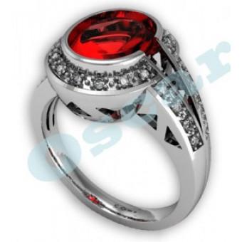 Дизайнерские кольца на заказ. Модель Os 7009