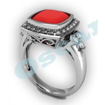 Дизайнерские кольца на заказ. Модель Os 7017