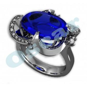 Дизайнерские кольца на заказ. Модель Os 7032