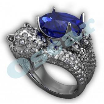 Дизайнерские кольца на заказ. Модель Os 7038