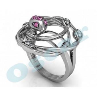Дизайнерские кольца на заказ. Модель Os 7045