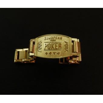 Покерный браслет победителя  Европейского тура из золота 750 пробы