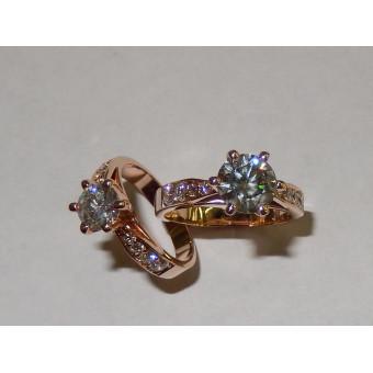 Кольцо с большим бриллиантом