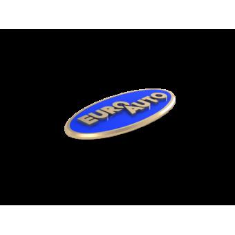 Значки с логотипом компании ЕвроАвто из белого золота с эмалью